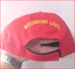 Boné Bombeiro Civil em Brim Bordado e com Ajuste de Tamanho
