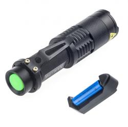 Lanterna Tática Super Compacta Profissional Recarregável Led Q5 9,30cm
