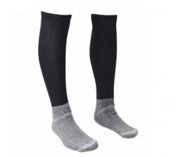 Meião Preto confortável, pé de algodão e perna elastano com poliamida