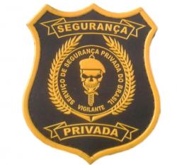 Brasão Emborrachado SEGURANÇA PRIVADA + FRETE GRÁTIS