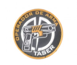 Brevê Emborrachado Colorido OPERADOR TASER + frete grátis