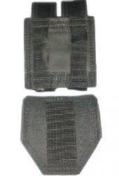 Kit Preto Com Porta Agemas + Porta Carregadores Couro Samuray