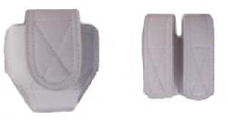 Kit Branco com Porta Algemas + Porta Carregadores Couro