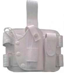 Coldre Branco De Perna Universal Em Couro Samuray