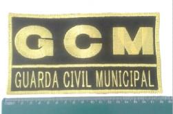 Tarjeta Bordada GCM com Velcro 18cm x 9cm