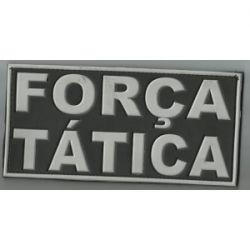 Emborrachado FORÇA TÁTICA  20cm x 10cm + FRETE GRÁTIS,  APENAS PARA POLICIAIS