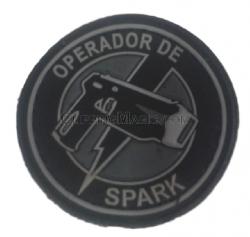 Brevê de Borracha Operador Spark Descolorido