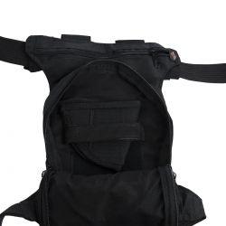 Pochete tática de perna com coldre porta carregadores e porta munição
