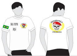 Camiseta Segurança Privada Branca