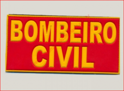 Emborrachado Bombeiro Civil Costas 10cm x 20cm