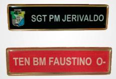 Tarjeta de Metal com Banho de Ouro Com Nome Personalizado em Resina