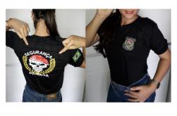Camiseta Segurança Privada Feminina Acolchoada