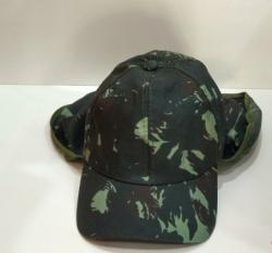 Chapéu ou Boné Camuflado EB Com Proteção de Sol Para Nuca