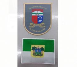 Kit Bordado Brasão e Bandeira PMRN