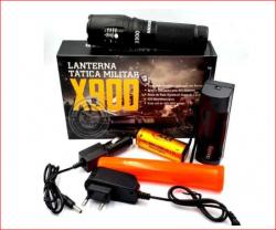 Lanterna Tática Militar X900  Bateria 26650 4.2v