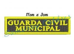 Tarjeta Guarda Civil Municipal Bordada Para Peito + Frete Gratis