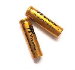 2 Baterias 14500 4,2v Recarregável Para Mini Lanterna Tática