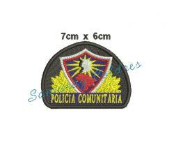 Brevê Bordado POLÍCIA COMUNITÁRIA com velcro