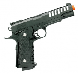 Pistola Airsoft 1911 6mm V305 Spring Slide Metal Black