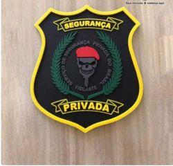 Brasão Segurança Privada Colorido Tam 8cm x 6,5cm