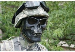 Máscara Caveira Skull Full face Para Airsoft