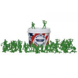Tropinha de Soldados Toy Store Com 60 unidades + Baldinho